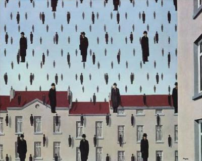 Golconde, René Magritte (1953), Menil Collection, Houston (Texas)